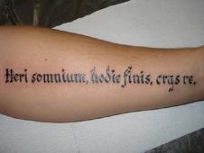 Heri somnium hodie finish cras re